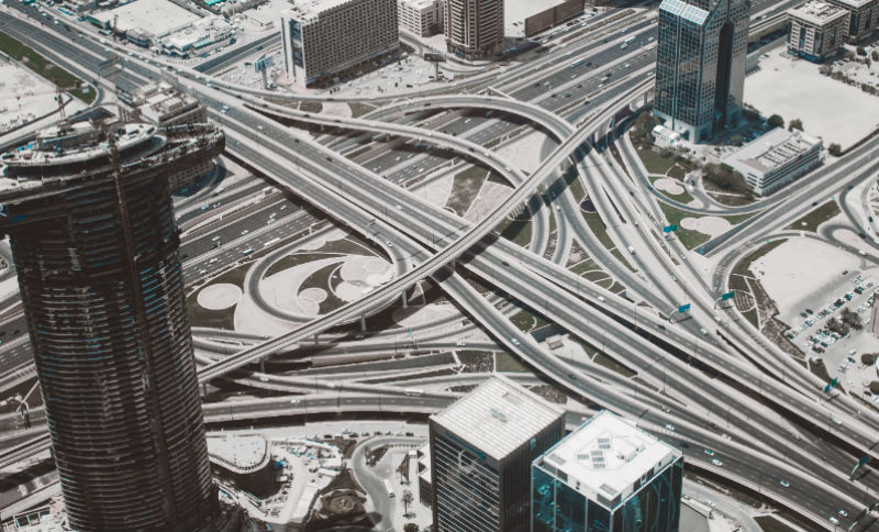 A picture of freeways representing a maze of options in investigations